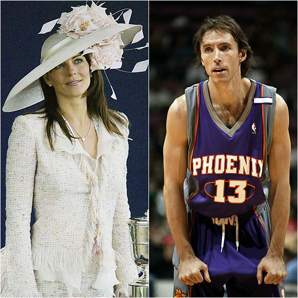 Steve Nash and Elizabeth Hurley