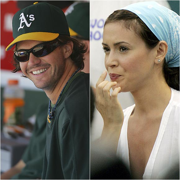 Barry Zito and Alyssa Milano