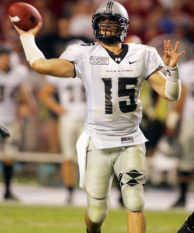 Arizona State vs. Hawaii <br><br>Hawaii QB Colt Brennan is one touchdown pass shy of tying David Klinger's national record (54) and 198 passing yards short of Ty Detmer's WAC single-season record (5,188).