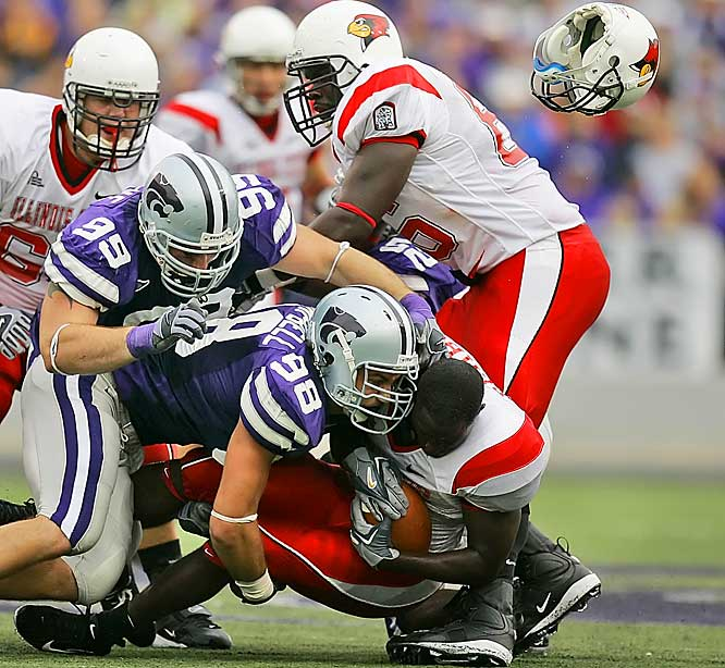 Rutgers vs. Kansas State <br><br>Rutgers' offensive line has allowed just eight sacks all season (tied for first with Arkansas nationally), but Kansas State racked up 40 sacks (fifth nationally). Something's got to give.