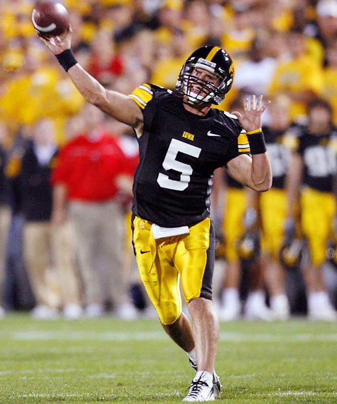 Iowa vs. Texas <br><br>As a prep QB in Baytown, Texas, Drew Tate set state career records for completions, attempts, passing yards and touchdowns. He committed to Texas A&M after his sophomore season of high school, but eventually ended up in Iowa City. Now he'll return to his home state for his final college game.