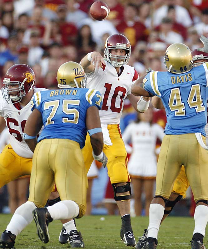 Michigan vs. USC<br><br>The last two times USC has played in the Rose Bowl haven't been too memorable: a loss to Texas in the 2005 national title game and a shocking defeat to UCLA that knocked the Trojans out of this year's title game.