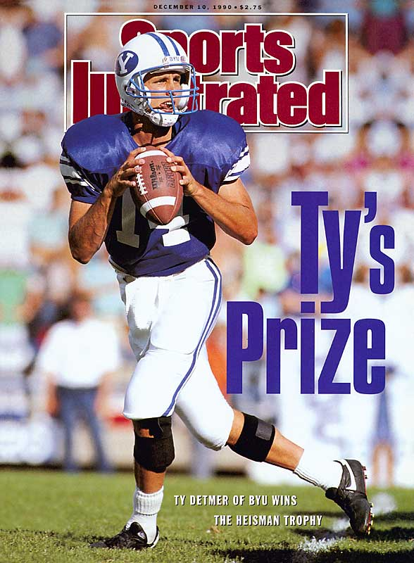 Following in a long line of prolific QBs that has included Jim McMahon and Steve Young, Detmer set the NCAA mark for single-season yards passing (5,188) and 41 touchdowns.