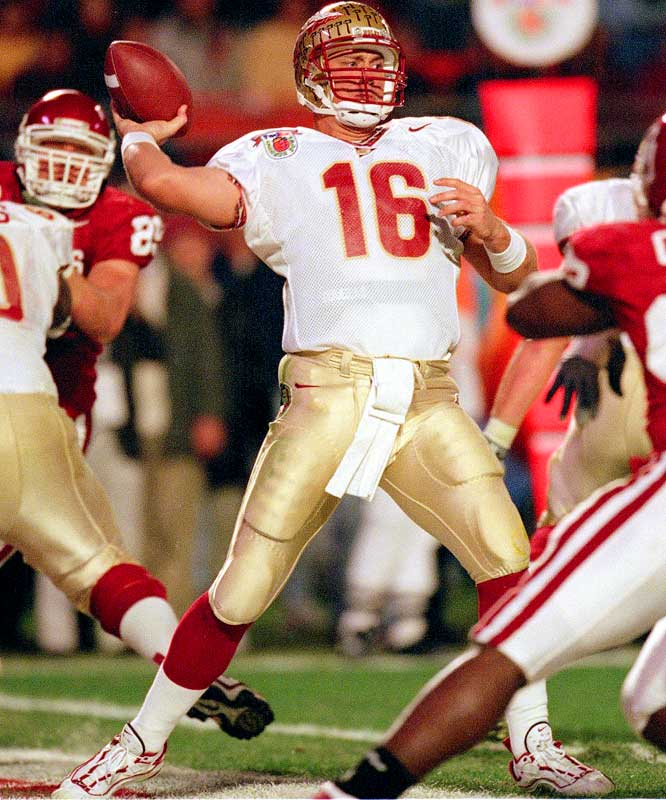 Having spent seven years playing minor league baseball before returning to the gridiron in Tallahassee, Weinke became the oldest Heisman winner ever (28), barely beating out Oklahoma's Josh Heupel.