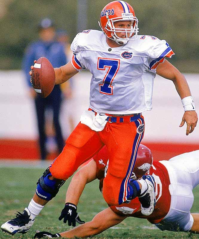 In leading the Gators to the national title, Wuerffel passed for 3,625 and 39 touchdowns and broke numerous Florida passing records. Wuerffel also became the only Heisman winner ever to be coached by a former recipient of the award (Steve Spurrier).