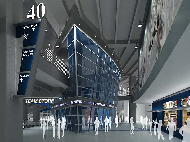 The concourse areas, like the rest of the stadium, will have a futuristic look.