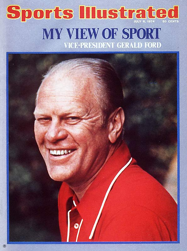 "The SI jinx does not wander into politics. One month and a day before he ascended to the presidency on Aug. 9, 1974, then-Vice-President Ford graced the cover of Sports Illustrated. His six-page story, written with John Underwood, began: ""One lesson to be learned in reaching an age where you are both a viable politician and a washed up lineman is that past glories are not negotiable in the open market. When you stop winning they not only start booing, they start forgetting."""