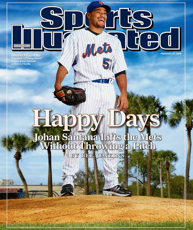 After months of pursuit the Mets finally agreed to a trade to acquire Santana, but the deal wasn't official until the Mets inked him to a contract extension. Not surprisingly, the two-time Cy Young winner became the highest-paid pitcher in baseball history (at the time), then went 16-7 with a 2.53 ERA in his debut season in Queens.