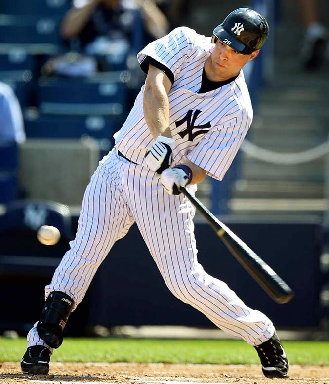 A switch-hitter with prodigious power, Mark Teixeira also has impeccable timing. His first foray into free agency coincided with the Yankees' vacancy at first base, and nobody spends like the Yankees. The Bronx Bombers agreed to terms with the former Angels slugger who, at the time, had hit 203 career home runs and didn't turn 29 until April 2009.