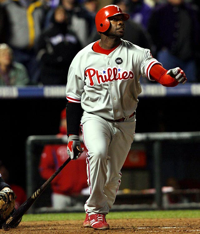 Howard joined the $100 million club by signing a five-year extension with the Phillies on April 26, 2010, worth a guaranteed $125 million. The deal also includes a club option for a sixth that could increase the deal's value to $138 million. Howard, 30, is one of only three players in history to win a Rookie of the Year award and follow it up with an MVP the next season. He averaged 49 home runs and 143 RBIs from 2006-09 and helped the Phillies win the 2008 World Series and the 2009 NL pennant, the same year he was named NLCS MVP.