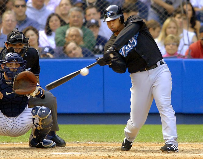 The Blue Jays ensured their All-Star center fielder wouldn't leave via free agency after 2007 by signing him to this extension. Wells averaged 21 home runs and 90 RBIs from 2004-06 but he batted a career-low .245 in '07 and had only 15 home runs and 66 RBIs in '09. However, Wells did bounce back in 2010 with 31 homers and 88 RBIs.