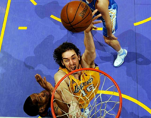 Kobe Bryant finally got the help he was begging for. The Lakers instantly improved their frontcourt with the 2007-08 midseason addition of Gasol, who averaged 18.8 points, 8.6 rebounds and 3.1 assists in 476 career games with the Grizzlies. The Lakers gave up Kwame Brown, rookie Javaris Crittenton and two first-round draft picks for the Spaniard, who would go on to help the Lakers win back-to-back titles in '09 and '10.