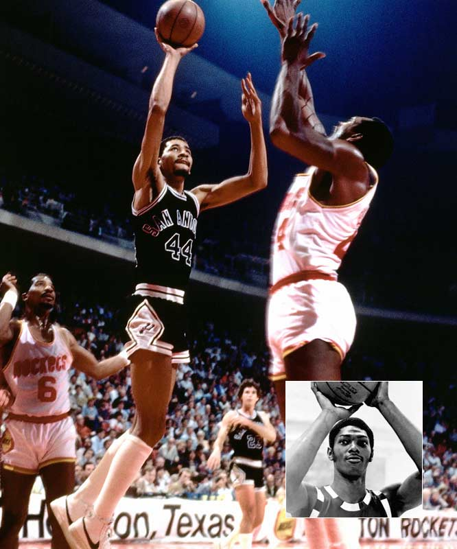 George Gervin (25.9 points per game) ... 6th in league<br>Mike Mitchell (23.3 points per game) ... 8th in league