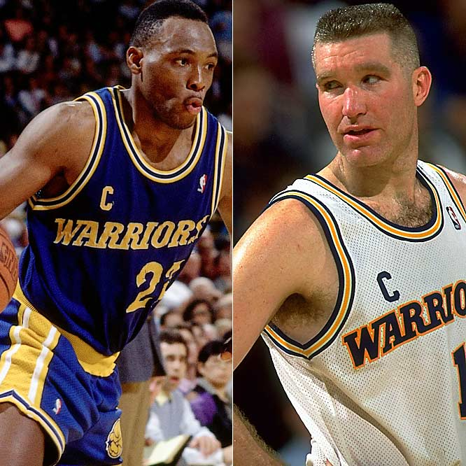 Chris Mullin (25.7 points per game) ... 8th in league<br>Mitch Richmond (23.9 ppg) ... 10th in league