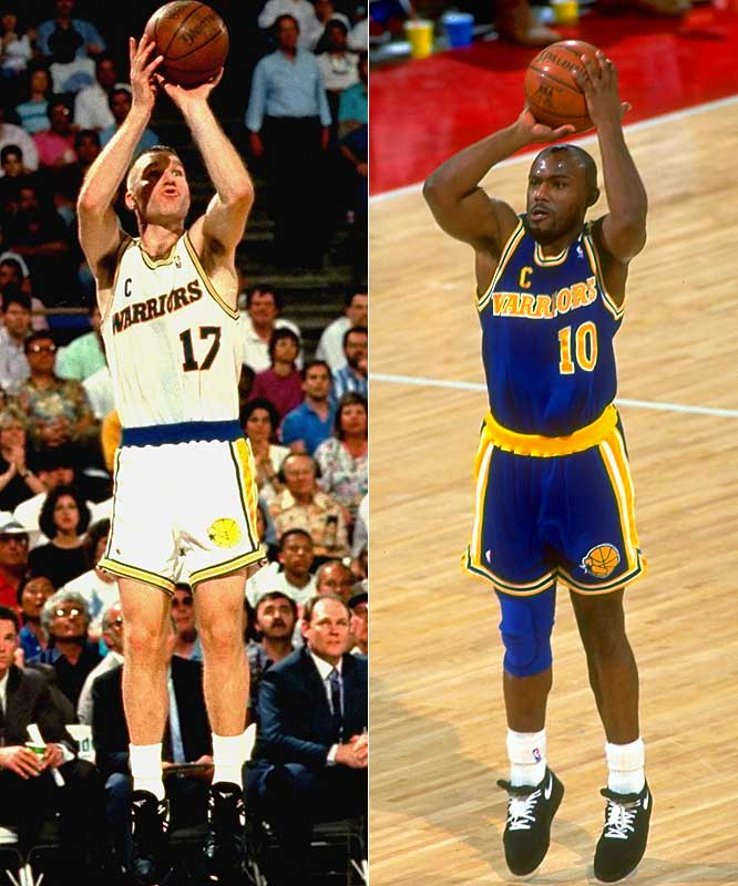 Chris Mullin (25.6 points per game) ... 3rd in league<br>Tim Hardaway (23.4 ppg) ... 6th in league