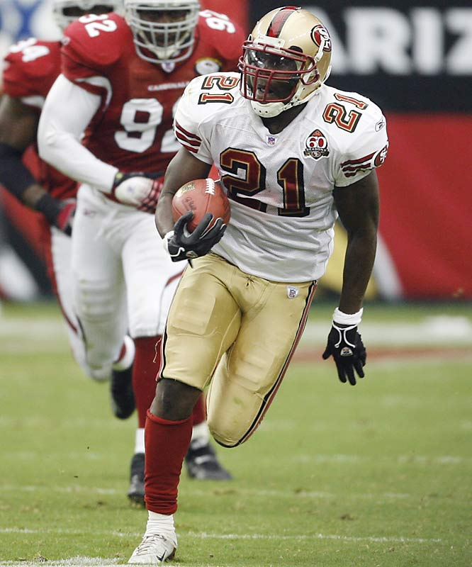 Barlow was once considered the backbone of a young and improving 49ers team, but he never quite delivered and they traded him to the Jets for a fourth-round pick. The move allowed them to feature second-year pro Frank Gore, who has rushed for 1,491 yards through 14 games. After Barlow left, he compared San Francisco coach Mike Nolan to Adolph Hitler -- a remark he later apologized for. Barlow simply was not a good fit for the 49ers and Gore appears to be a future super star.
