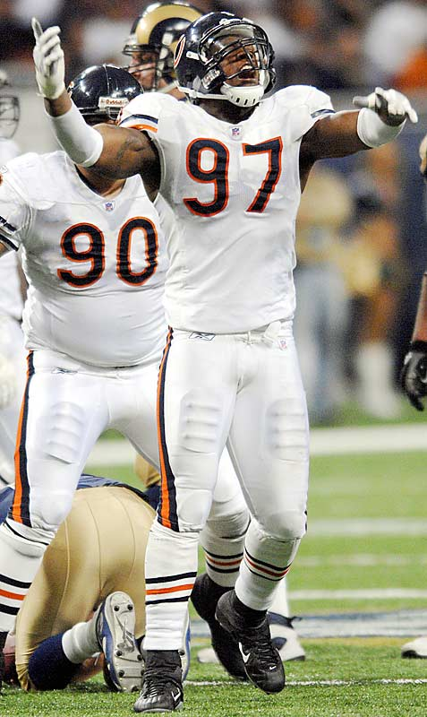 Last Week: Unranked<br><br>Anderson had two sacks in the Bears' 42-27 win over St. Louis on Monday night. He also got flagged for hitting Marc Bulger in the head, which wasn't smart, but it's not a huge surprise considering how hard Anderson rushes the quarterback.