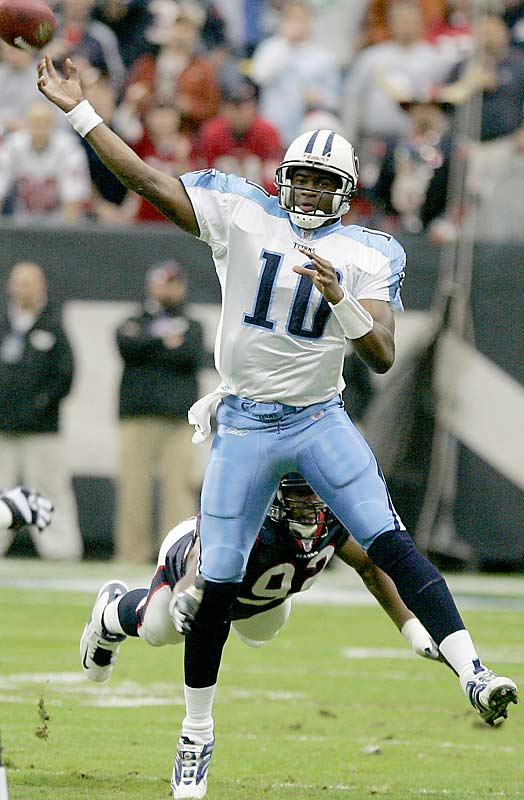 Last Week: 1<br><br>Young's hot streak continued as he led the Titans to their fourth straight win with a 39-yard touchdown dash in overtime to beat the Texans. The win was especially sweet for Young because it was in his hometown of Houston and the Texans passed on him at No. 1 overall, opting to take defensive end Mario Williams.