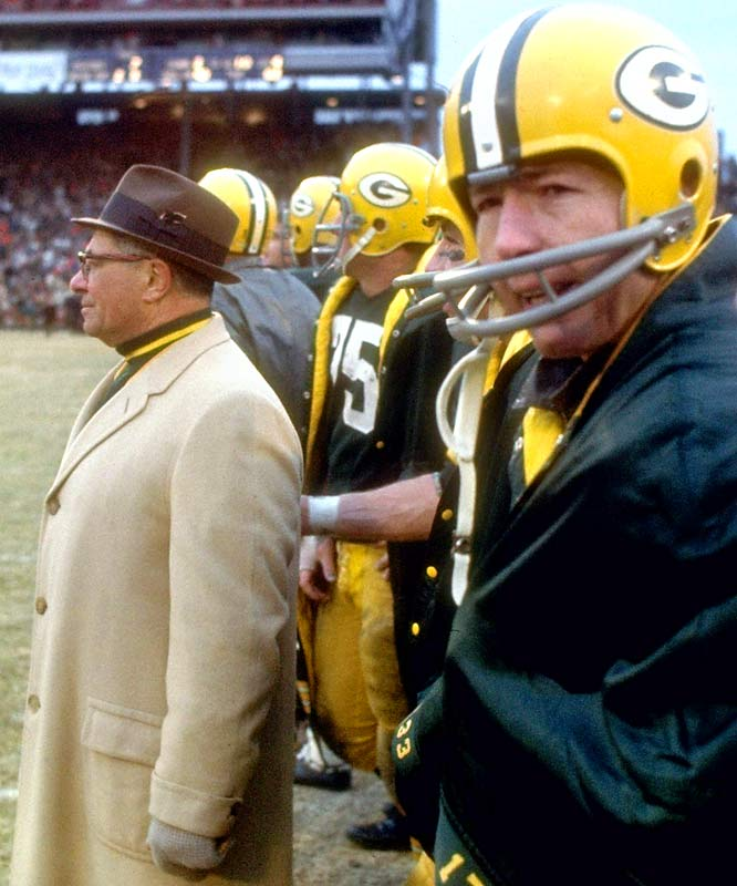 In the eight-year span from 1960 to '67, the Packers went to either the NFL Championship or Super Bowl six times, winning their final five appearances. The Packers remain the only NFL team to win three consecutive league titles (1965-67), and the calm, cool-headed Starr was the ideal trigger man to execute Lombardi's relentless quest for perfection.