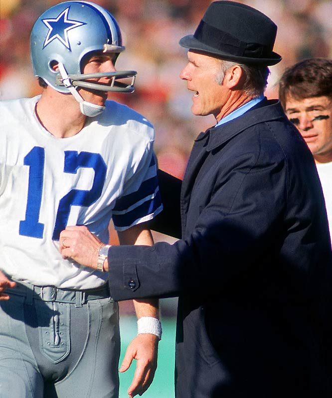 The Cowboys' coach/quarterback tandem produced four Super Bowl appearances in the eight-year span of 1971-78, with a pair of rings to show for it. In our book, that stretch of sustained excellence outweighs any claim that might be made on behalf of Jimmy Johnson and Troy Aikman, whose five-year relationship produced back-to-back Super Bowl titles for Dallas in 1992-93.