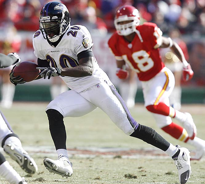 Safety Ed Reed had both interceptions for Baltimore against Kansas City. The Ravens are 4-0 when Reed gets at least two interceptions.