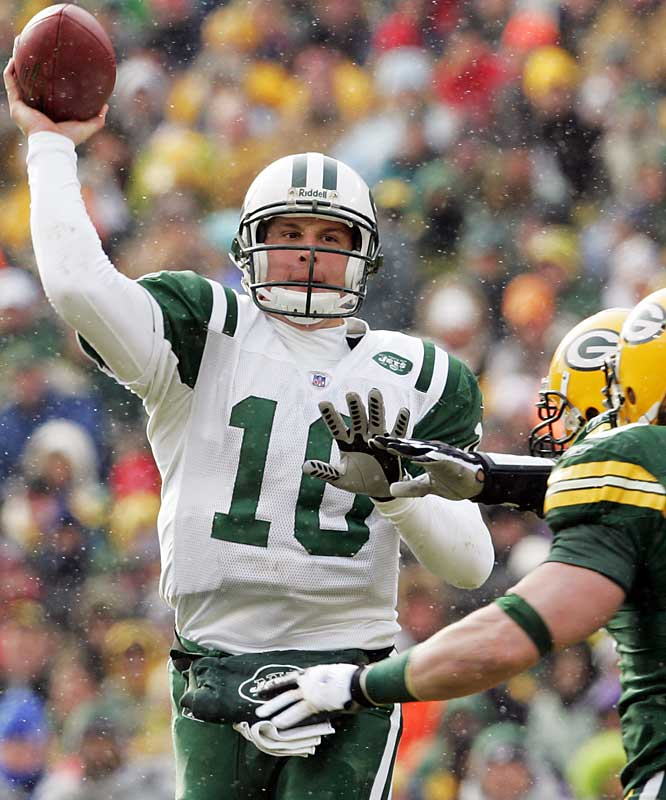 89.1 ... With his ninth pass attempt against the Packers, Chad Pennington reached 1,500 career pass attempts and became eligible for the all-time NFL leaders in passer rating. He finished the game at 89.1 and moved into the No. 7 spot. Brett Favre, who began the year at No. 12, continued his free fall and is now 15th at 85.5.