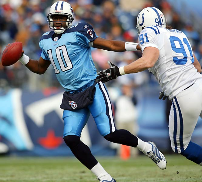 14 ... Until this week, no rookie quarterback in NFL history had rallied his team to two victories after trailing by 14 or more points. Titans rookie Vince Young has done it twice in eight days. Young rallied the Titans from 24-0 against the Giants two weekends ago and from 14-0 against the Colts this past weekend.