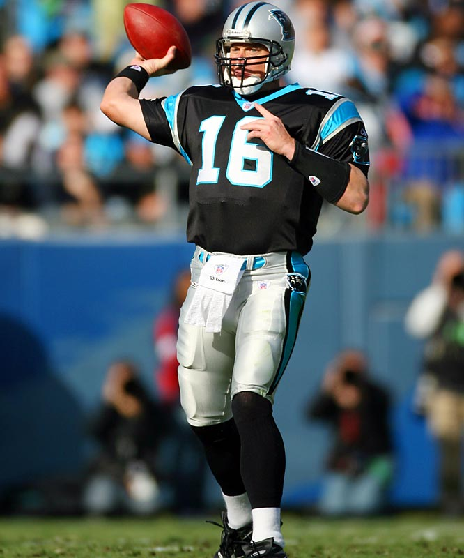 423 ... Panthers quarterback Chris Weinke threw for 423 yards against the Giants in his first start since Oct. 13, 2002, at Dallas. He's the first quarterback since the 1970 AFL-NFL merger to pass for 423 or more yards after not starting a game in the previous four years. Weinke's last start was Oct. 13, 2002, against the Cowboys.