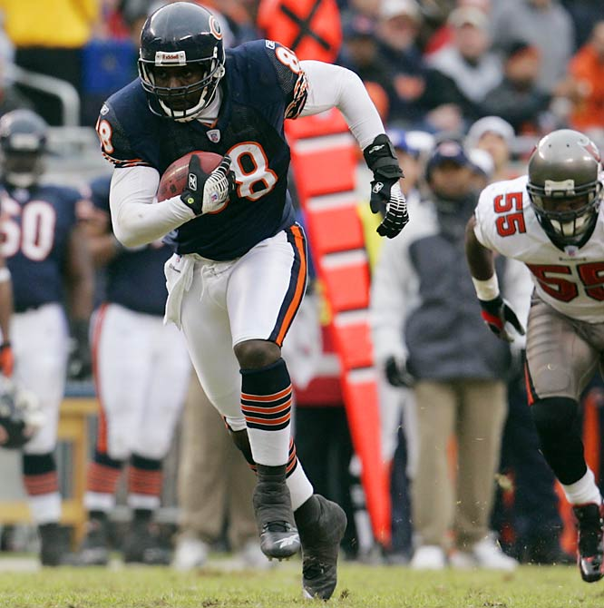 125 ... Bears tight end Desmond Clark had seven catches for 125 yards against the Buccaneers, the most receiving yards by a Bears tight end in 42 years, since Mike Ditka was 13-for-168 against the Redskins on Oct. 25, 1964. Clark is the first Chicago tight end with 100 receiving yards in 21 years, since Emery Moorehead was 8-for-114 against the Buccaneers on Oct. 6, 1985, in Tampa.