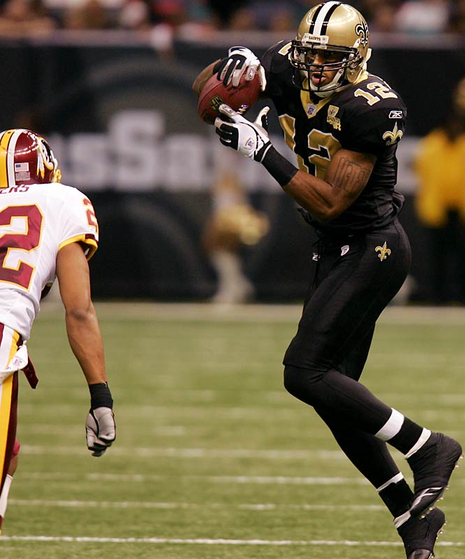 1,001 ... Saints receiver Marques Colston had 84 receiving yards against the Redskins, giving him 1,001 yards this year and making him the first player drafted in the seventh round or later with 1,000 yards in his rookie season.