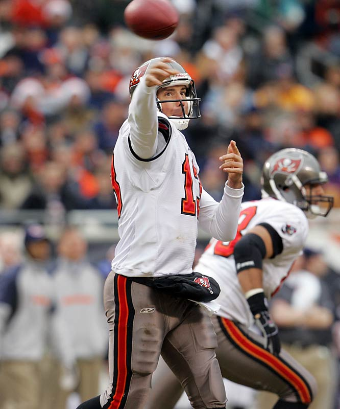 3 ... Backup Tim Rattay threw three touchdown passes in the second half of the Buccaneers' loss to the Bears. That's as many TD passes as starter Bruce Gradkowski threw in his last six starts combined.