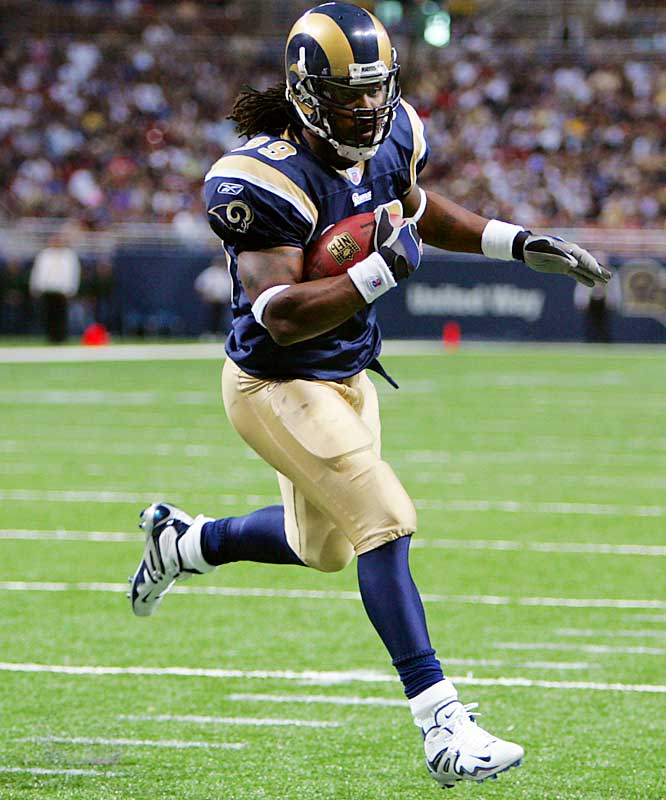 1,400 -- 90 ... Steven Jackson needs 14 rushing yards and two catches against the Vikings to become the second player in NFL history with 1,400 rushing yards, 600 receiving yards and 90 catches in a season. LaDainian Tomlinson in 2003 had 1,645 rushing yards, 725 receiving yards and 100 catches.