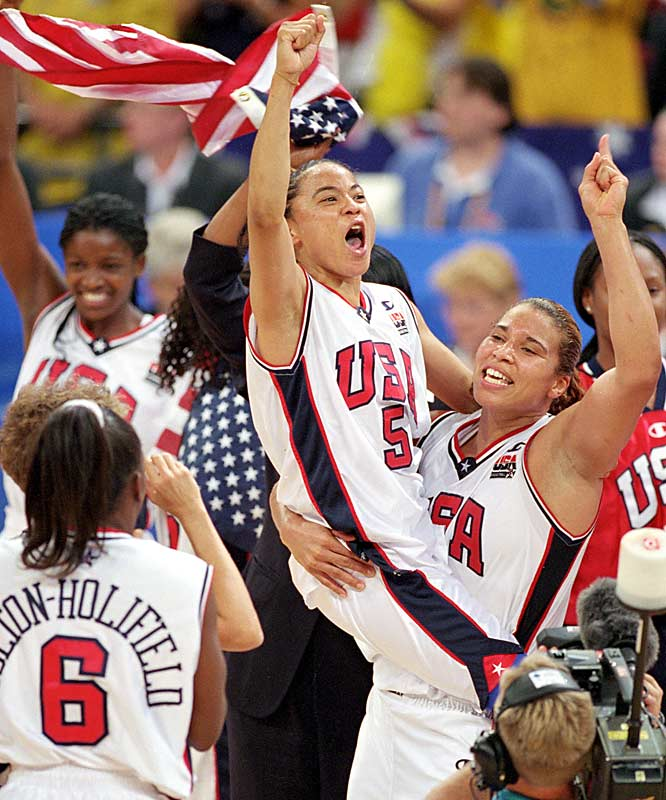 The five-time WNBA All-Star guard (No. 5) finished her career with 2,226 points, 1,337 assists and 537 rebounds over six-plus seasons. She also was a fixture on the U.S. Olympic teams, winning gold medals at Atlanta, Sydney and Athens. She was chosen as the U.S. flagbearer in Greece.