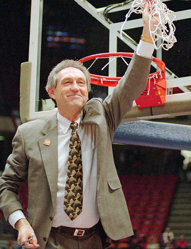 Before his retirement in May, he was considered the best active basketball coach to have never won a national title. Sutton was the first coach to take four schools to the NCAA Tournament (Creighton, Arkansas, Kentucky and Oklahoma State). Only four coaches have more than the 798 wins Sutton amassed in his 36-year career: Dean Smith (879), Adolph Rupp (876), Bob Knight (869 entering the 2006-07 season), and Jim Phelan (830).