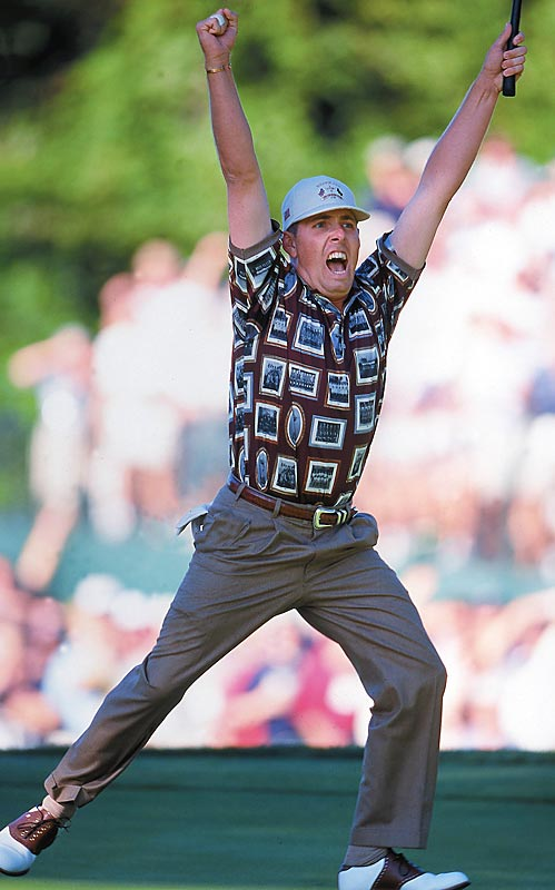 If you ask the Europeans, the only thing uglier than those gawd-awful shirts the Americans wore at the 1999 Ryder Cup was the U.S. team's disgusting celebration on the 17th hole at Brookline. We think the bad taste was limited to the clothes.