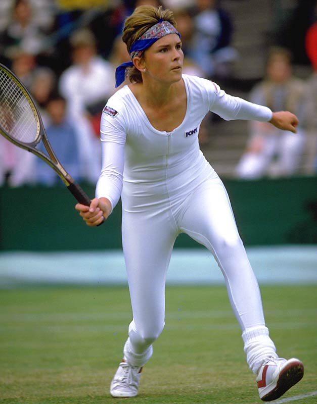 Anne White had tongues wagging at the All England Club, showing up in '85 covered head-to-toe in opalescent Lycra. After one of her matches was delayed by rain, she was told by a referee not to wear the outfit the next day.