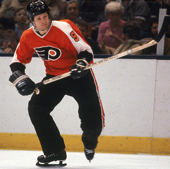 The 1981-82 Philadelphia Flyers donned unsightly long pants designed by Cooper that were intended to allow for lighter padding underneath. Trouble was the slippery Cooperalls failed to make players noticeably faster except for when they went skidding into the boards. The Hartford Whalers also wore the pants in 1982-83 before the NHL stepped in and banned them.