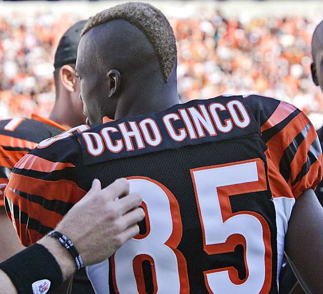 They don't call it the No Fun League for nothing. The NFL disliked Chad Johnson's Ocho Cinco velcro patch so much that he was assessed a cinco mil dolares -- make that $5,000 -- fine.