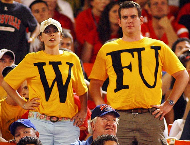 These Deamon Deacon fans went home unhappy as the ACC champs were defeated by Louisville, 24,13, in the Orange Bowl in Miami.