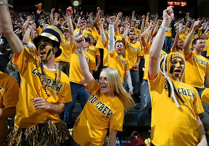 Missouri fans make some noise during the Tigers 71-58 victory over Texas Tech on Saturday.