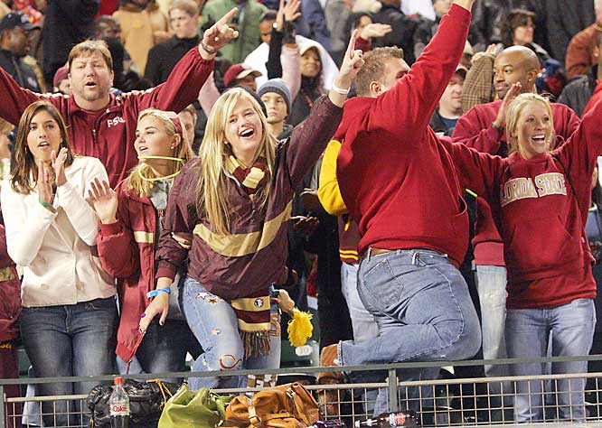 Florida State fans cheer during the Seminoles 44-27 victory over UCLA at the 2006 Emerald Bowl.