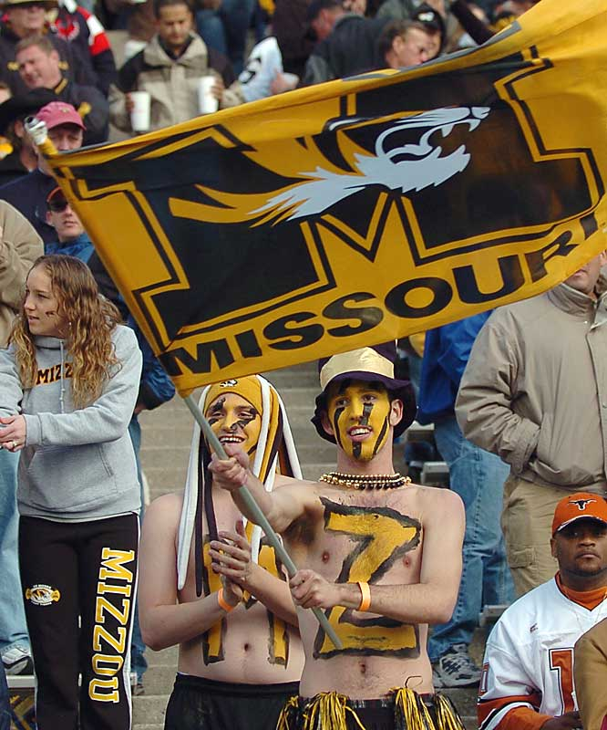 Missouri fans cheer on the Tigers during its 39-38 defeat to Oregon State in the Sun Bowl.