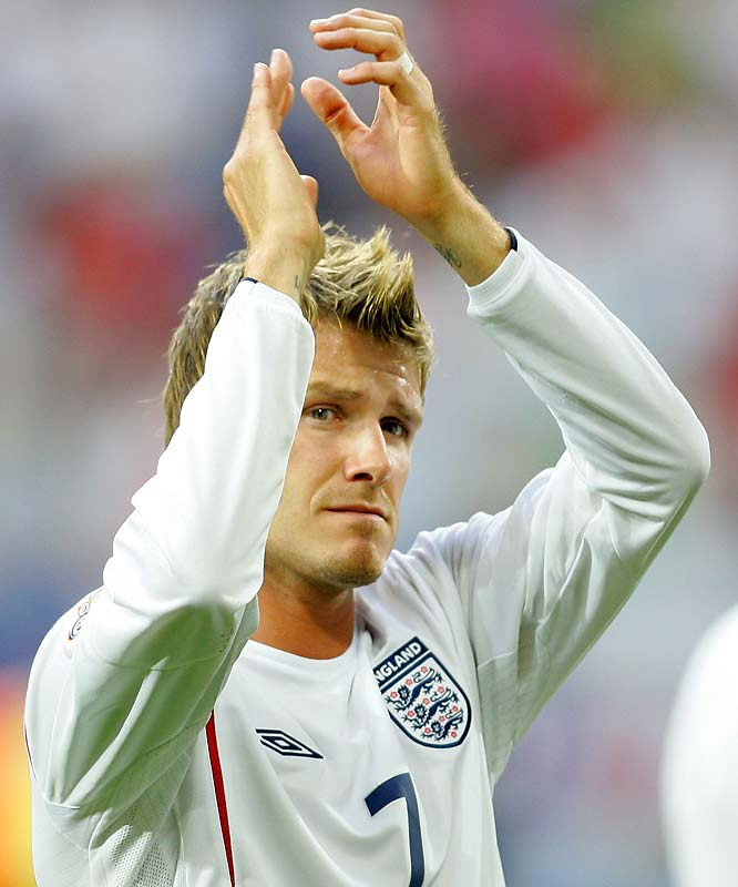Beckham was named as England's captain in November 2000, but resigned after the 2006 World Cup after England lost to Portugal in the quarterfinals. England's new coach Steve McClaren then dropped Beckham from the squad, only to recall him six months later as England badly needed an inspirational lift in its bid to qualify for the 2008 European Championships.