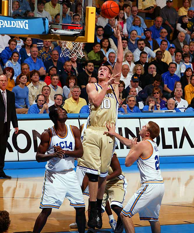 15.2 ppg, 5.9 rpg, 1.9 bpg<br><br> The Huskies have slumped to an ugly 1-5 start in the Pac-10 and may be in jeopardy of missing the NCAA tournament, but Hawes has stayed strong in league play. The Seattle big man has shot at least 50 percent from the field and scored in double figures in four of those five conference losses.