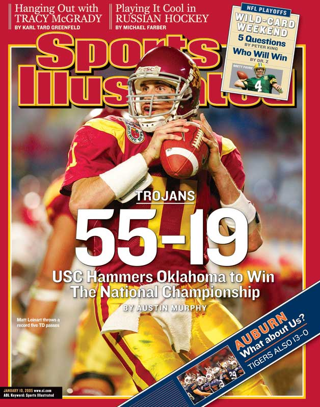 The matchup that everyone anticipated all season long didn't quite live up to the billing. USC's Heisman Trophy QB Matt Leinart threw for 332 yards and five touchdowns.