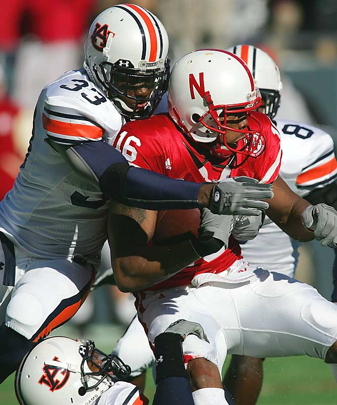Auburn's offense suffered, but its defense came to play. The Tigers held high-octane Nebraska to 230 total yards of offense.