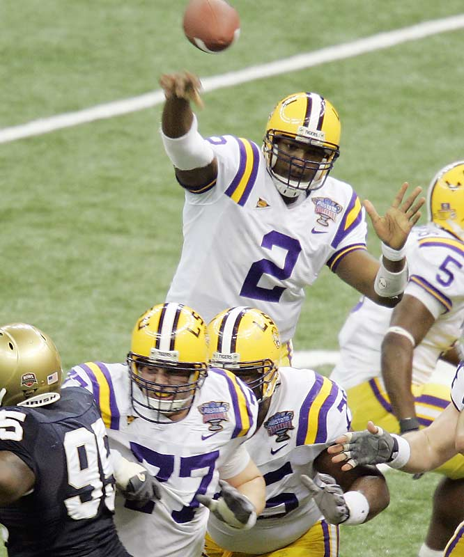As expected, Notre Dame just had no answer for LSU's speed. Tigers QB JaMarcus Russell easily outplayed Brady Quinn.
