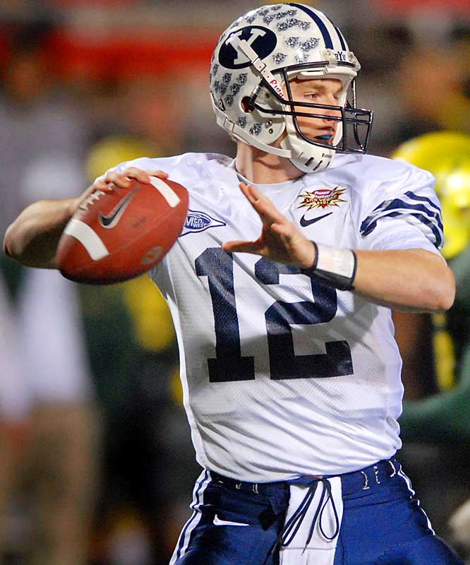Behind senior QB John Beck (375 yards, two TD passes), BYU rolled up 550 yards of offense.