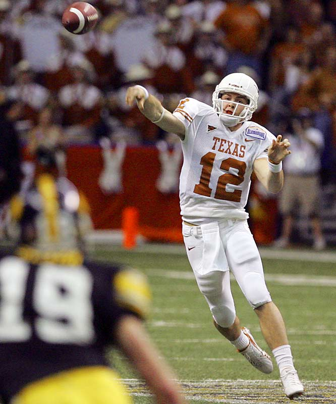 Freshman Colt McCoy finished a brilliant season by throwing for 308 yards and two touchdowns.
