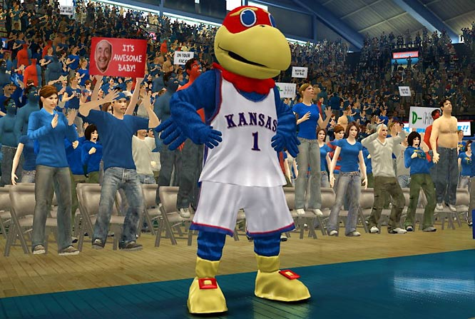 The latest incarnation of EA's college hoops title allows the players to interact with the rabid student sections, school mascots, cheerleaders and even the band during key moments of the game. We'll have a full review of this game which is in stores now.